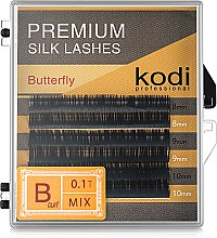 Духи, Парфюмерия, косметика Накладные ресницы Premium B 0.01Т (6 рядов: 8/9/10) - Kodi Professional