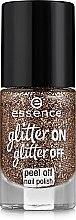 Духи, Парфюмерия, косметика Лак для ногтей - Essence Glitter On Glitter Off Peel Off Nail Polish