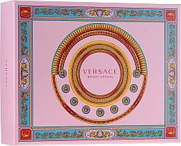 Парфумерія, косметика Versace Bright Crystal - Набір (edt/50ml + b/lot/50ml + sh/gel/50ml)