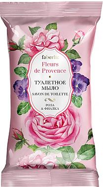 """Туалетное мыло """"Роза & фиалка"""" - Faberlic Fleurs de Provence — фото N1"""