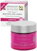 Духи, Парфюмерия, косметика Дневной крем для чувствительной кожи - Andalou Naturals 1000 Roses Beautiful Day Cream