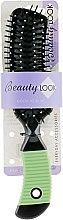 Духи, Парфюмерия, косметика Расческа прямоугольная, черно-салатовая 485840 - Beauty Look