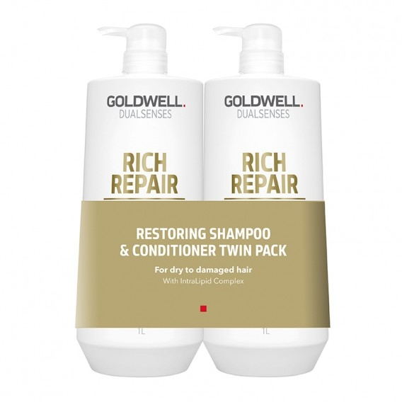 Набор - Goldwell DualSense Rich Repair (shm/1000ml + cond/1000ml)