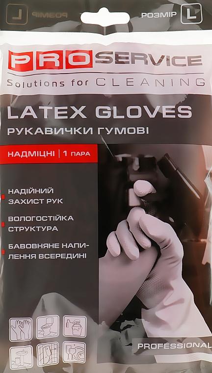Перчатки латексные хозяйственные, размер L, розовые - PRO service Professional