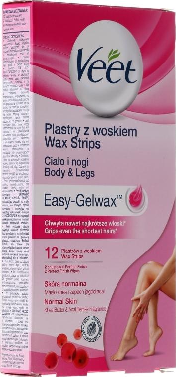 Полоски восковые для нормальной кожи - Veet Wax Strips Normal Skin