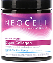 "Духи, Парфюмерия, косметика Супер коллаген типа 1 и 3 ""Французская ваниль"" - NeoCell Super Collagen Powder, French Vanilla Flavor"