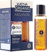 """Духи, Парфюмерия, косметика Защитный концентрат для волос восстанавливающий """"4 масла"""" - Kativa Argan Oil"""