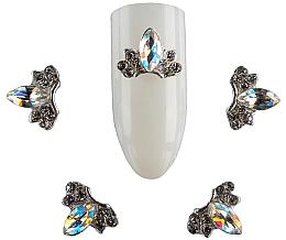 Духи, Парфюмерия, косметика Брошь для дизайна ногтей St-D03, 2 шт - F.O.X Brooch №3 Stone Drop