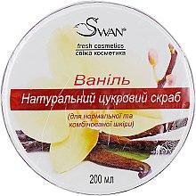 """Духи, Парфюмерия, косметика Натуральный сахарный скраб с ароматом """"Ваниль"""" для нормальной и комбинированной кожи - Swan"""