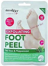Духи, Парфюмерия, косметика Отшелушивающая маска-носочки для ног - Derma V10 Foot Peel Sock Mask Tea Tree & Peppermint