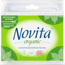 Духи, Парфюмерия, косметика Палочки ватные в полиэтиленовом пакете, 100шт - Novita Organic