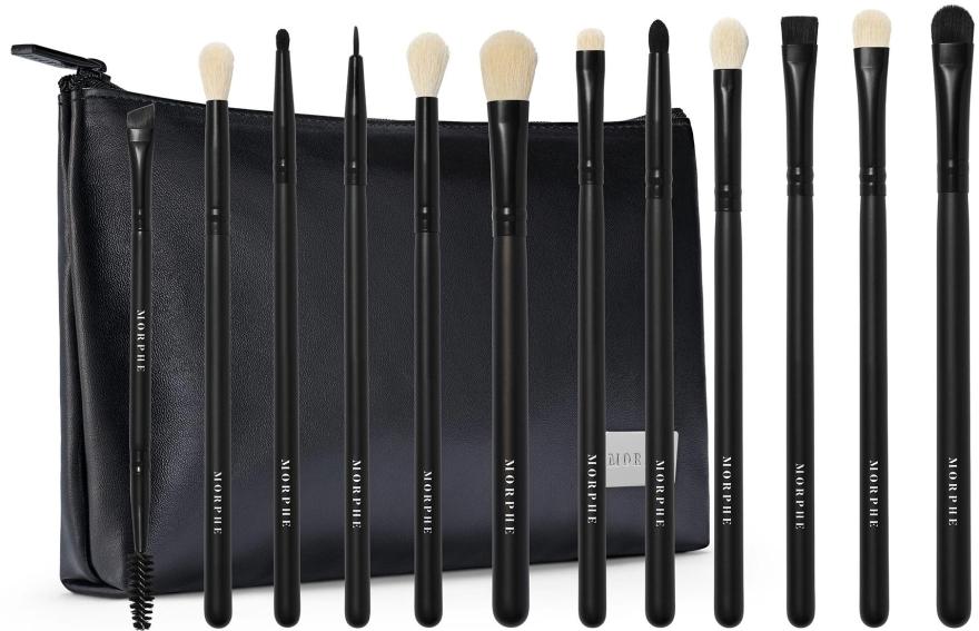 Набор кистей для макияжа - Morphe Eye Obsessed 12-Piece Eye Brush Collection + Bag