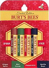 Духи, Парфюмерия, косметика Набор - Burt's Bees Multi 4-Pack Limited Edition (lip/balm/4x4.25g)