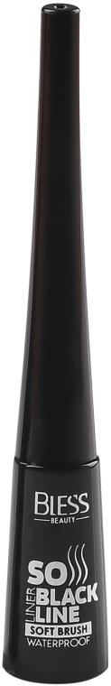 Подводка для глаз с мягкой кисточкой - Bless Beauty So Black Line Soft Brush Eyeliner