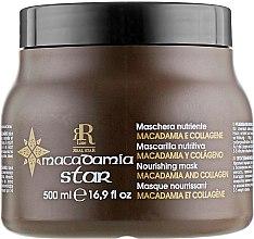 Духи, Парфюмерия, косметика Маска для волос с маслом макадамии и коллагеном - RR Line Macadamia Star