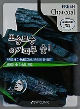 Духи, Парфюмерия, косметика Тканевая маска для лица с древесным углем - 3W Clinic Fresh Charcoal Mask Sheet