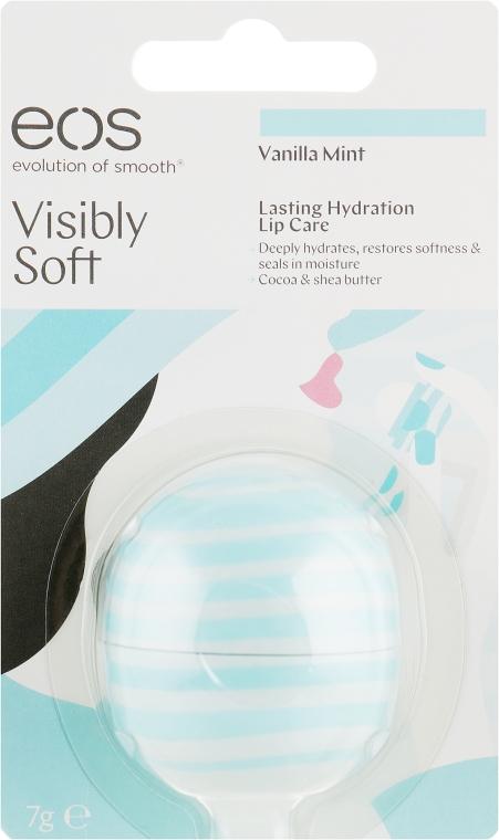 "Бальзам для губ ""Ванильная мята"" - EOS Visibly Soft Lip Balm Vanilla Mint — фото N1"