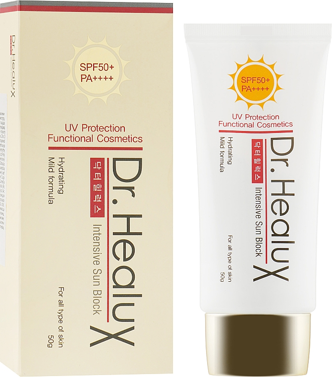 Крем для лица солнцезащитный - Dr. Healux Intensive Sun Block SPF50+/PA++++