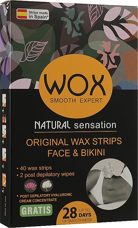 Восковые полоски для лица и бикини 40+2 - WOX Smooth Expert Original Wax Strips Face & Bikini