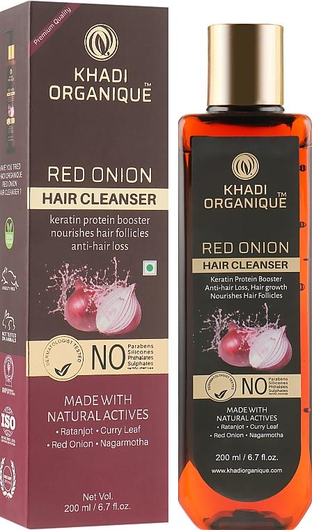 """Натуральный аюрведический безсульфатный шампунь для укрепления и роста волос """"Красный лук"""" - Khadi Organique Red Onion Hair Cleanser"""