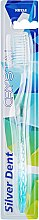 Духи, Парфюмерия, косметика Зубная щетка, мягкая, прозрачно-голубая - Modum Silver Dent Crystal