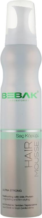 Мусс для укладки волос экстра сильной фиксации - Bebak Laboratories Hair Mousse — фото N1