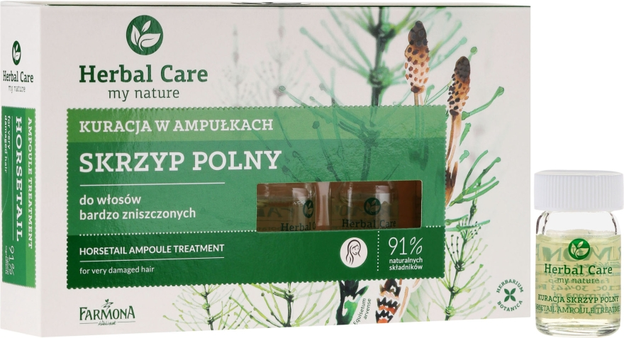 Средство против выпадения волос, питательное, стимулирующее рост волос - Farmona Herbal Care Horsetail Ampoule Treatment