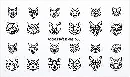 """Парфумерія, косметика Дизайнерський трафарет для нігтів """"Орігамі"""" - Adore Professional Nailcrust"""
