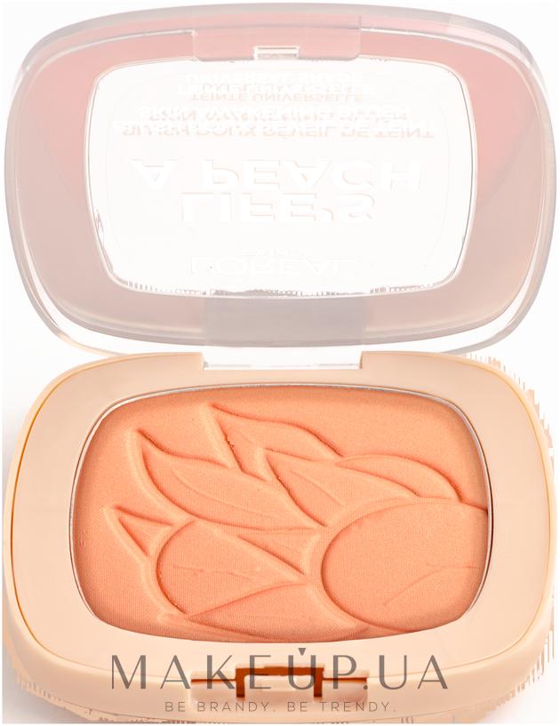 Румяна для лица - L'Oreal Paris Life's a Peach Blush Powder — фото 01 - Peach Addict