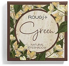 Духи, Парфюмерия, косметика Палетка теней для век - Rougj+ Green Natural Eyeshadow Palette