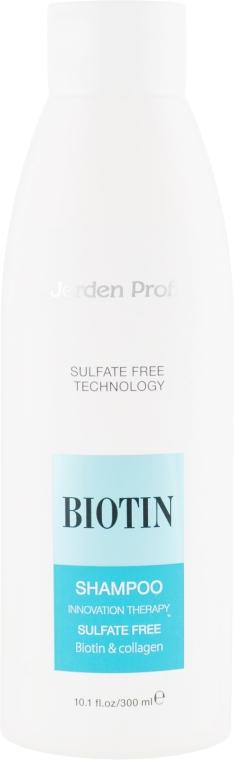 Шампунь для волос бессульфатный с биотином и коллагеном - Jerden Proff Biotin