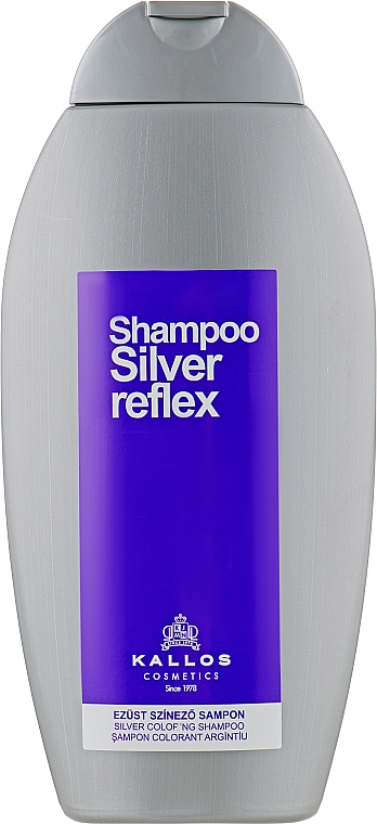 Шампунь серебряный окрашивающий - Kallos Cosmetics Silver Reflex Shampoo