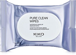 Духи, Парфюмерия, косметика Салфетки для снятия водостойкого макияжа - Kiko Milano Pure Clean Wipes