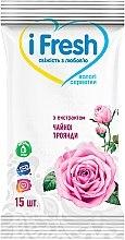 Духи, Парфюмерия, косметика Влажные салфетки с экстрактом цветов розы - IFresh