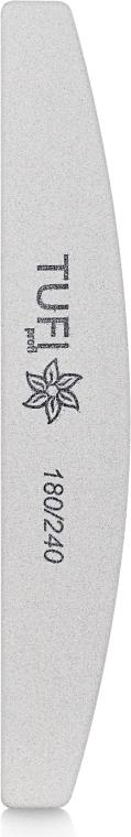 Пилочка-полукруг для ногтей 180/240, белая - Tufi Profi