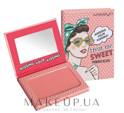Румяна для лица - Misslyn Treat Me Sweet! Powder Blush — фото N2