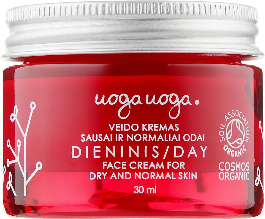 Дневной крем с экстрактом клюквы и гиалуроновой кислотой для сухой и нормальной кожи - Uoga Uoga Dry & Normal Skin Day Cream