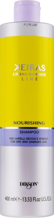Шампунь для поврежденных волос - Dikson Keiras Urban Barrier Nourishing Shampoo — фото N1