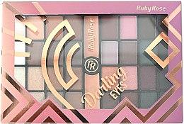 Духи, Парфюмерия, косметика Палетка теней для век, 32 оттенка - Ruby Rose Eyeshadow Palette Darling Eyes