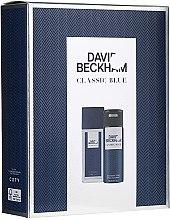 Духи, Парфюмерия, косметика David Beckham Classic Blue - Набор (deo/spray/75ml + deo/150ml)