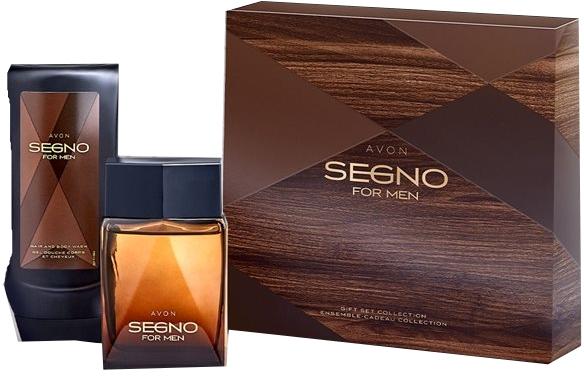 Avon Segno For Men - Набор (edp/75 ml + sh/gel/75ml) — фото N1