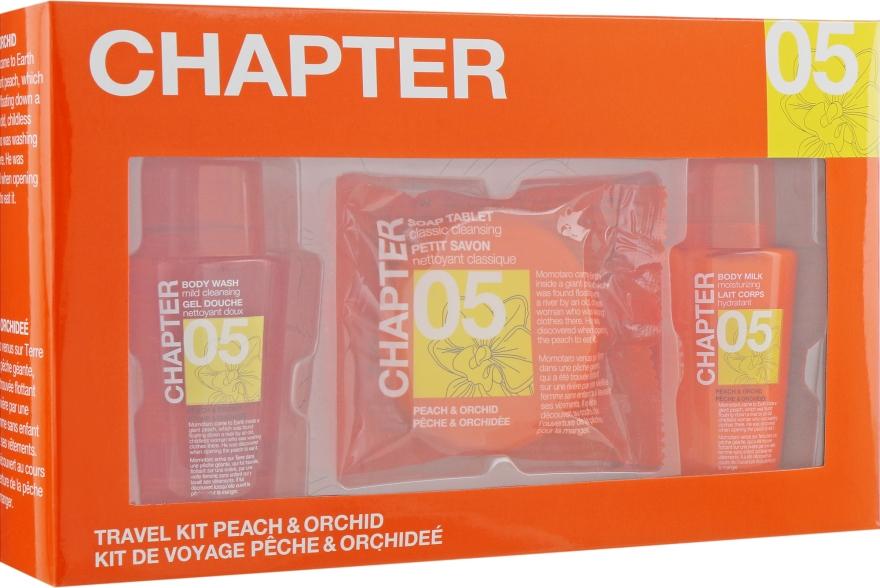 """Косметический набор для тела """"Персик и Орхидея"""" - Mades Cosmetics Chapter Kit (sh/gel/100ml + b/lot/100ml + soap/50ml)"""