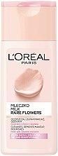 Молочко для снятия макияжа для сухой и чувствительной кожи - L'Oreal Paris Rare Flowers Cleansing Milk Dry and Sensative Skin — фото N1