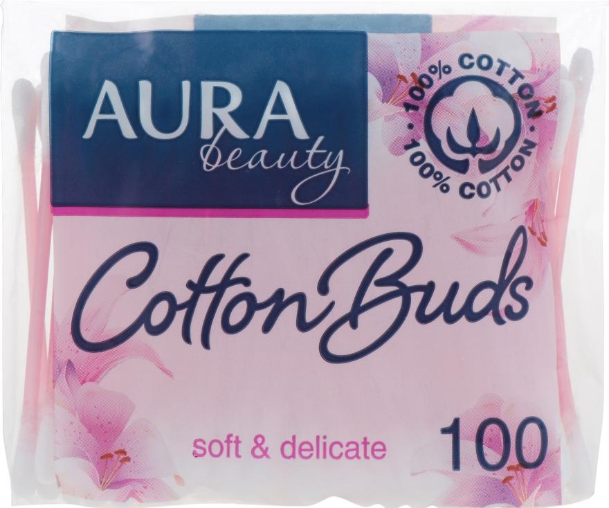 Ватные палочки в полиэтиленовом пакете, 100шт - Aura Beauty Soft&Delicate