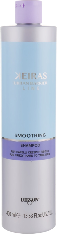 Шампунь для разглаживания непослушных волос - Dikson Keiras Urban Barrier Smoothing Shampoo
