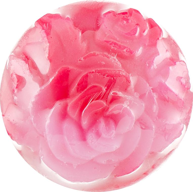 """Глицериновое мыло ручной работы """"Роза"""", лилово-розовое - BioFresh Rose Glycerin Soap"""