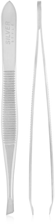 Пинцет скошеный SP11 - Silver Style