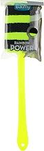 Духи, Парфюмерия, косметика Губка синтетическая на ручке, черно-зеленая - Balmy Naturel 01390