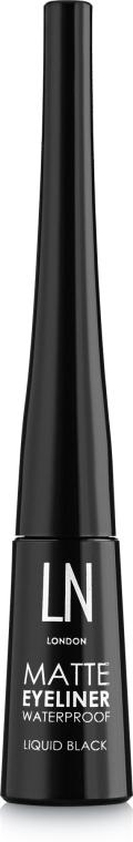 Жидкая подводка для глаз, матовая - LN Professional Matte Eyeliner Waterproof Liquid Black