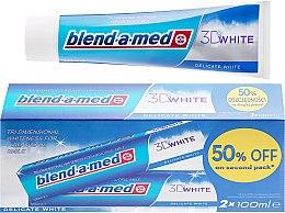 "Духи, Парфюмерия, косметика Набор зубной пасты ""Деликатное отбеливание"" - Blend-a-med 3D White Delicate White Toothpaste"